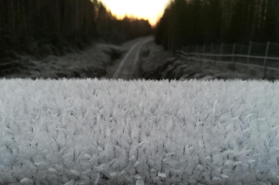 Jäätä ja maisemaa