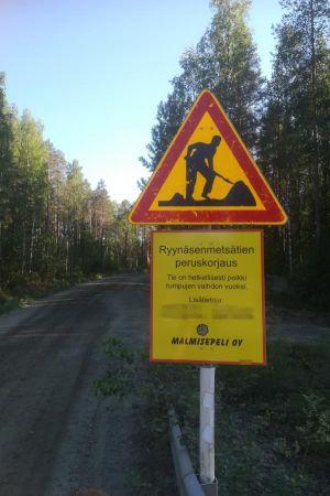 Meidän metsätietä kunnostetaan